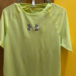 Yellow Dry Fit Under Armour shirt